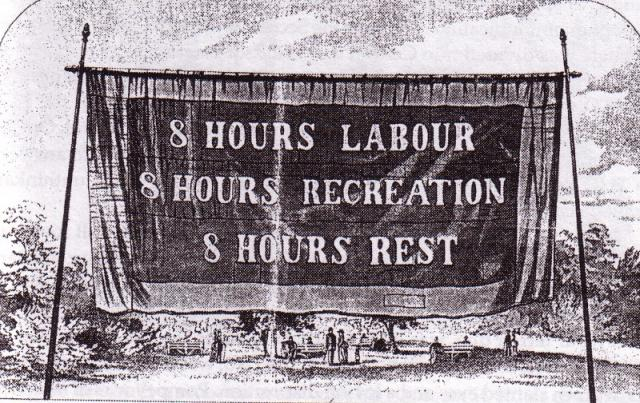 Eight hours day banner