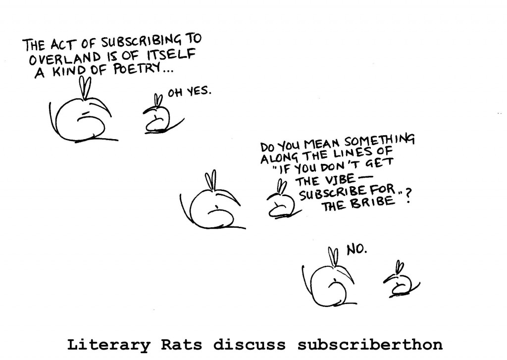Literary Rats discuss Subscriberthon