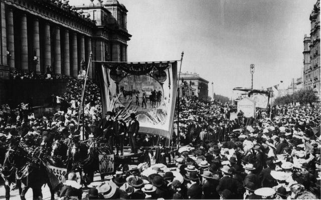 Melbourne eight hour day march 1900