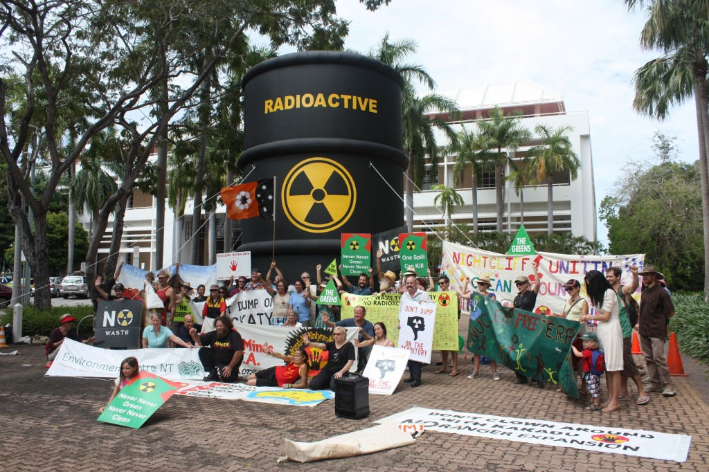 Protest against nuclear waste dump at Muckaty Station