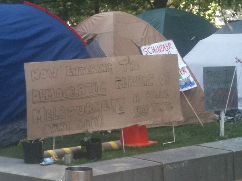 OccupyMelb_24hrsbefore