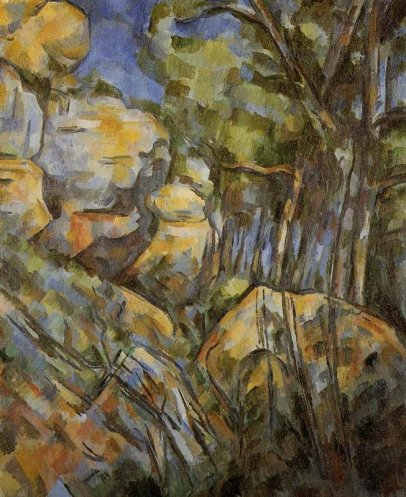 Paul Cezanne, 'Rocks near the caves above the Chateau Noir', 1900 – 04,  oil on canvas, 65 x 54 cm