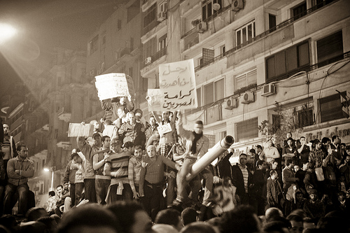 Protestors in Egypt – by 3arabawy