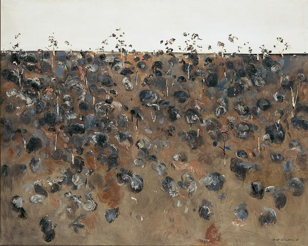 Fred Williams, 'Upwey landscape', 1965 oil on canvas 147.5 x 183.3cm