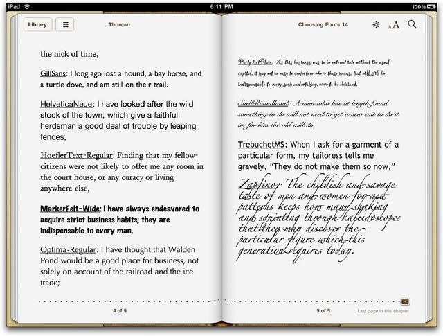 Fonts on iPad - by Liz Castro