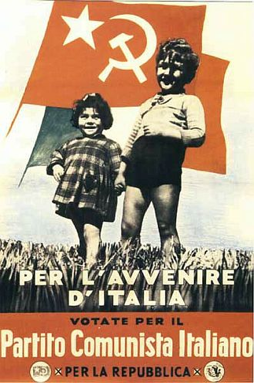 Vote the Italian Communist Party for the future of Italy