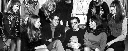 Cast photo for Broadway stage play, Play it Again Sam, starring Woody Allen and Diane Keaton.