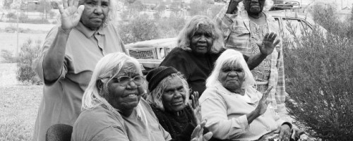Members of the Kupa Piti Kungka Tjuta, from 'The Poison Leave It' campaign.