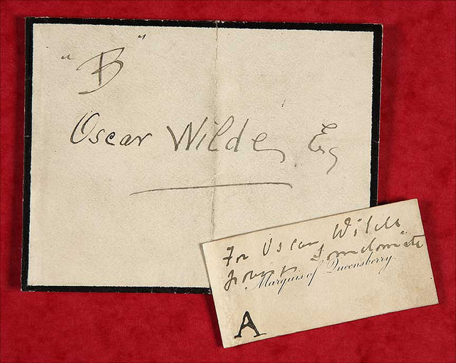 Exhibit 'A' in Wilde's trial, via The National Archives UK