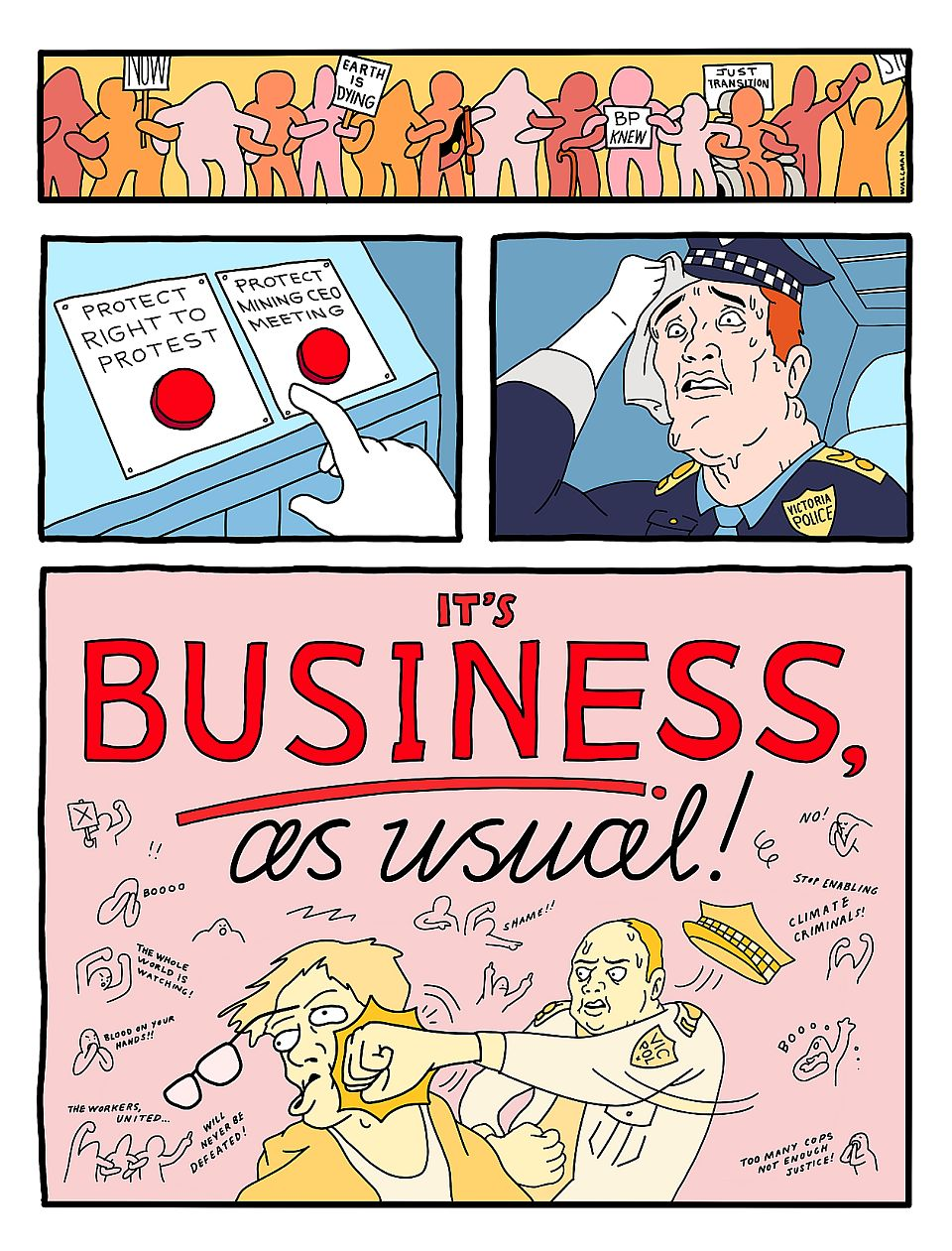 BUSINESS AS USUAL - IMARC CARTOON