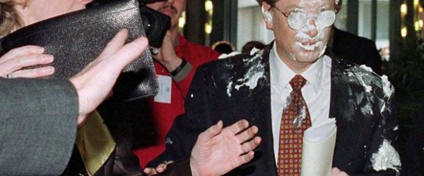 Bill Gates with pie face