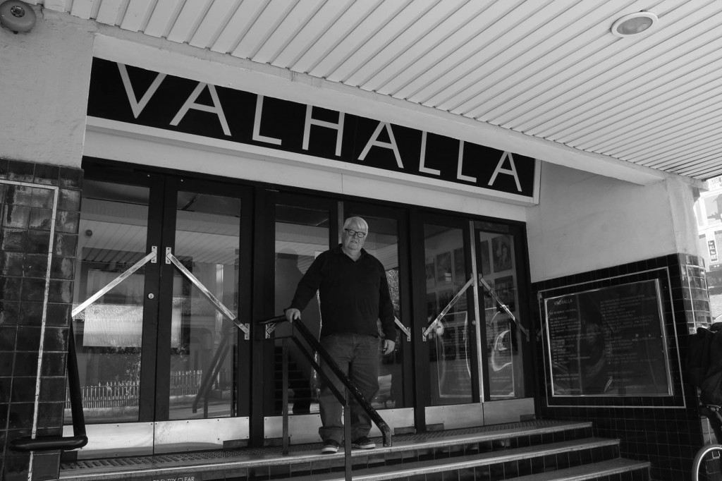 Chris Kiley, who co-founded the Valhalla Cinema, with Barry Peak. Image: Zoe Stojanovic-Hill.