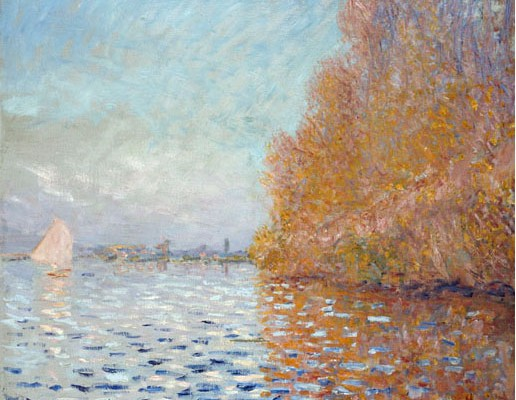 Claude Monet Argenteuil Basin with a Single Sailboat 1874