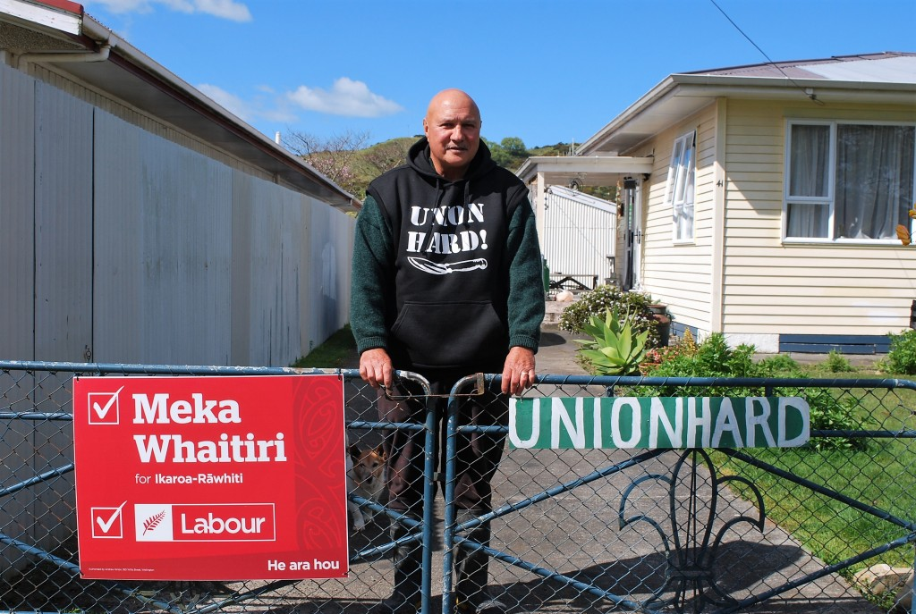 Hilton Rohe, outside his house in Wairoa (photo by Ross Webb)