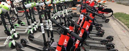 Electric scooters in Austin