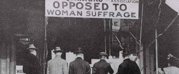 Opposed to women's suffrage2