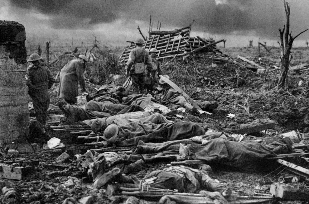 Still from aftermath of Polygon Wood battle