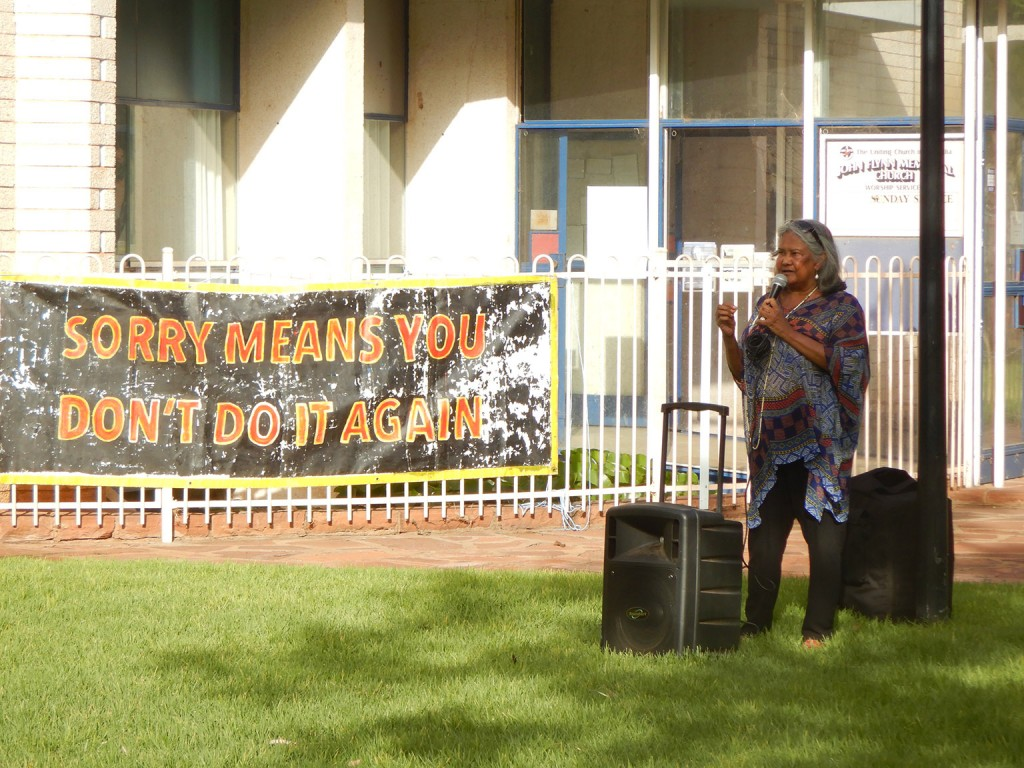 Sylvia addressing the commemoration event (via Rollback Action Group)