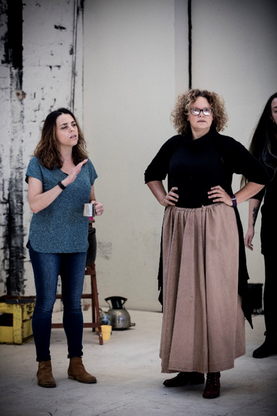 Director Leticia Caceres and Actor Leah Purcell – The Drover's Wife play rehearsals (Aug 2016). Image copyright: Brett Boardman, Belvoir Street Theatre