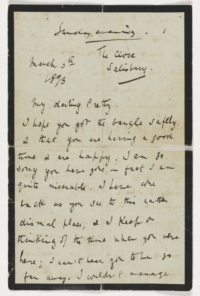 Maurice Schwabe letter, via State Library of New South Wales